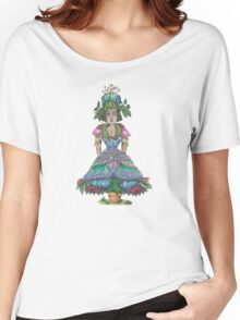 blooming flowerpot femme Women's Relaxed Fit T-Shirt