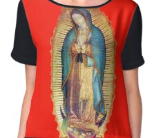 Our Lady of Guadalupe Virgin Mary Tilma Red Chiffon Top