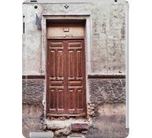 The old brown door iPad Case/Skin