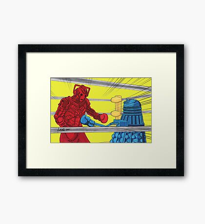 Rockem Sockem WhoBots Framed Print