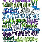 She Looks So Perfect Lyric Art by maddiedrawings