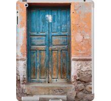 Blue door against Orange iPad Case/Skin