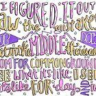 You & I Lyric art by maddiedrawings