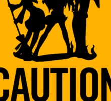 Caution Witches Ahead Anime Manga Shirt Sticker