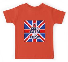 Keep Calm It's Friday Kids Tee