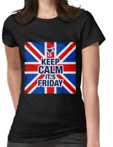Keep Calm It's Friday Womens Fitted T-Shirt