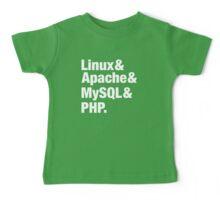 LAMP: Linux & Apache & MySql & PHP - Beatles Parody Baby Tee