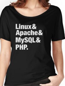 LAMP: Linux & Apache & MySql & PHP - Beatles Parody Women's Relaxed Fit T-Shirt