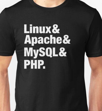 LAMP: Linux & Apache & MySql & PHP - Beatles Parody Unisex T-Shirt