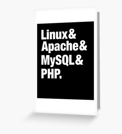 LAMP: Linux & Apache & MySql & PHP - Beatles Parody Greeting Card