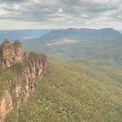 The Three Sisters & Mount Solitary by Michael Matthews
