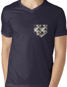 Tile Print Mens V-Neck T-Shirt