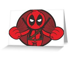 Deadpool Angry Greeting Card