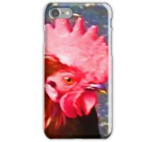 Head of a Red Rooster iPhone Case/Skin