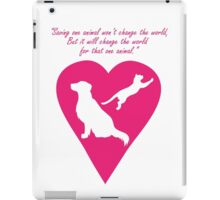 Dog and Cat Heart iPad Case/Skin