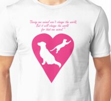 Dog and Cat Heart Unisex T-Shirt