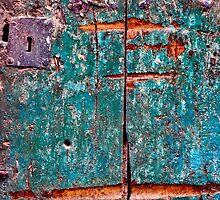 The old green door close up by lenscraft