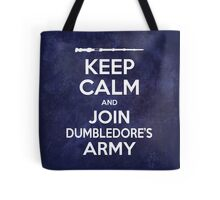 Keep Calm and Join Dumbledore's Army 2 Tote Bag
