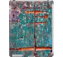 The old green door close up iPad Case/Skin