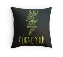 Curse You!-2 Throw Pillow