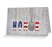 Military Honor Greeting Card