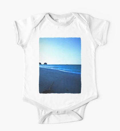 Driftwood on a Beach in the Dying Light One Piece - Short Sleeve
