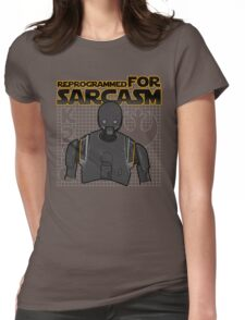 Reprogrammed for sarcasm Womens Fitted T-Shirt
