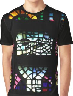 Colourful Glass Detail Graphic T-Shirt