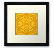 Yellow and Orange Circular/Ring Pattern Framed Print