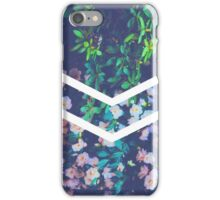 Tumblr Flower White Chevron Aesthetic  iPhone Case/Skin