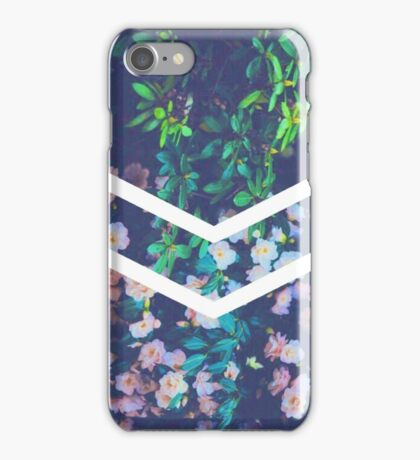 Tumblr Flower White Chevron Aesthetic  iPhone Case/Skin