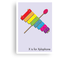 X is for Xylophone Canvas Print