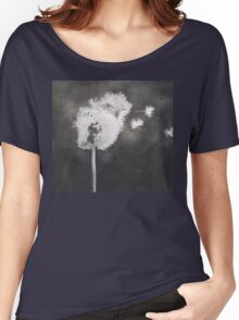 Dandelion in the Wind (black white) Women's Relaxed Fit T-Shirt
