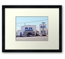 """Blue White Tradition"" Photo / Digital Painting  Framed Print"