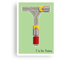 T is for Train Canvas Print