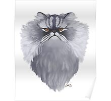 Persian Cat Caricature Poster