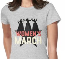 nasty women's march Womens Fitted T-Shirt