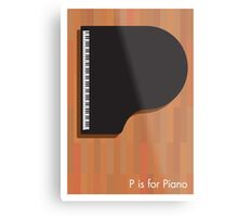 P is for Piano Metal Print