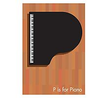 P is for Piano Photographic Print