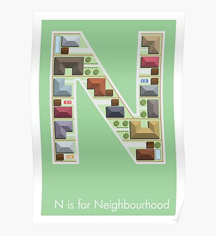N is for Neighbourhood Poster