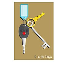 K is for Keys Photographic Print