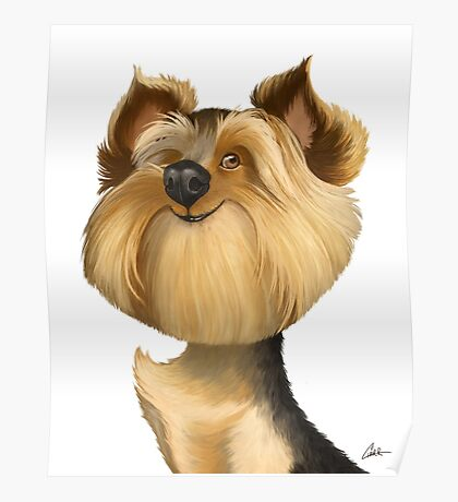 Yorkshire Terrier (Yorkie) Caricature Poster