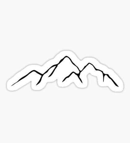 Mountain Ridge Outline Sticker