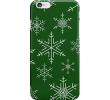 Snowflakes Green iPhone Case/Skin