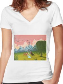 Musical Memories Women's Fitted V-Neck T-Shirt