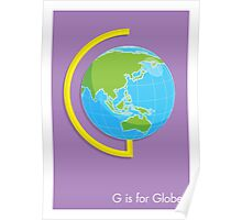 G is for Globe Poster