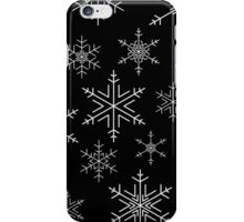 Snowflakes Black iPhone Case/Skin
