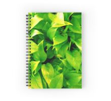 Natural green leaves Spiral Notebook