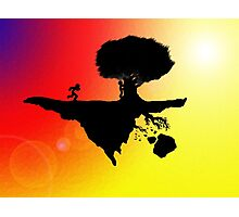 Silhoutte Island Photographic Print