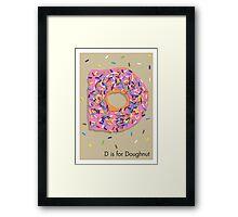 D is for Doughnut Framed Print
